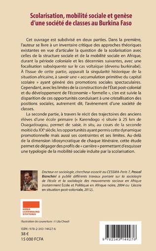 4eme Scolarisation, mobilité sociale et genèse d'une société de classes au Burkina Faso