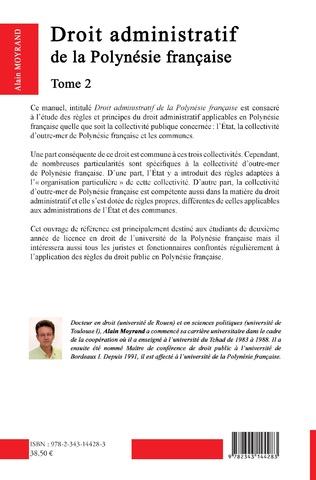 4eme Droit administratif de la Polynésie Française