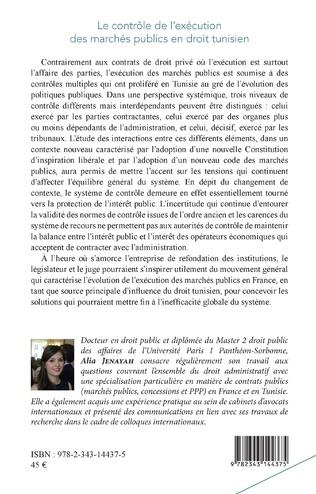4eme Contrôle de l'exécution des marchés publics en droit tunisien