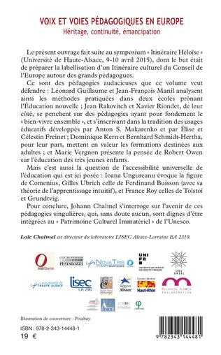 4eme Voix et voies pédagogiques en Europe