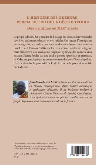 4eme L'histoire des odzukru, peuple du sud de la Côte d'Ivoire