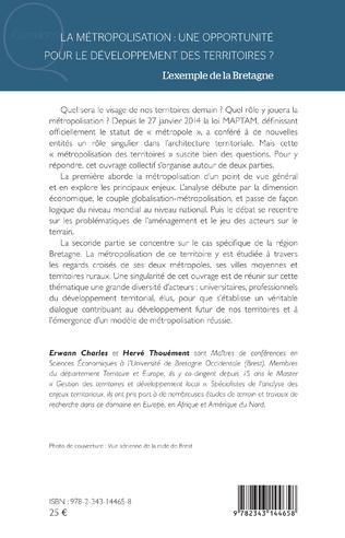 4eme La métropolisation : une opportunité pour le développement des territoires ?