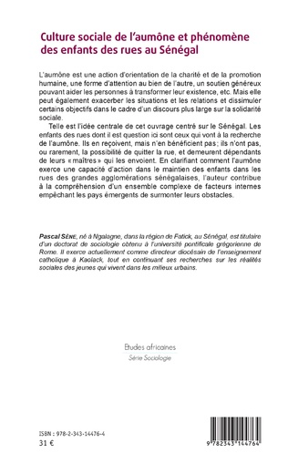 4eme Culture sociale de l'aumône et phénomène des enfants des rues au Sénégal