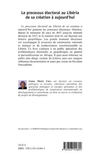 4eme Le processus électoral au Libéria de sa création à aujourd'hui