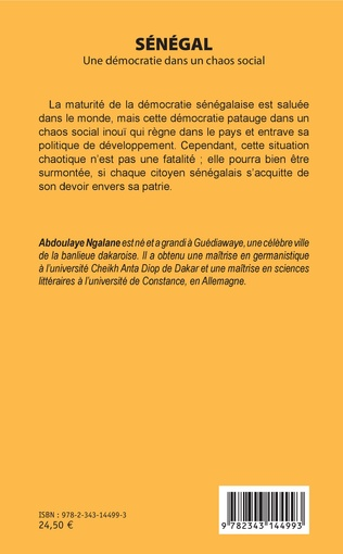 4eme Sénégal. Une démocratie dans un chaos social