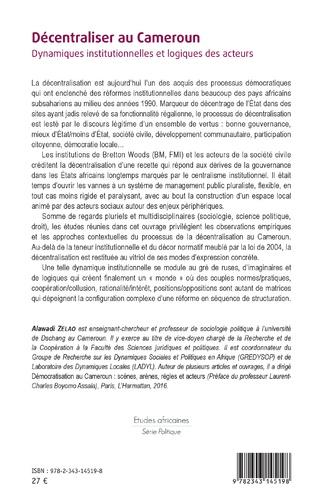 4eme Décentraliser au Cameroun
