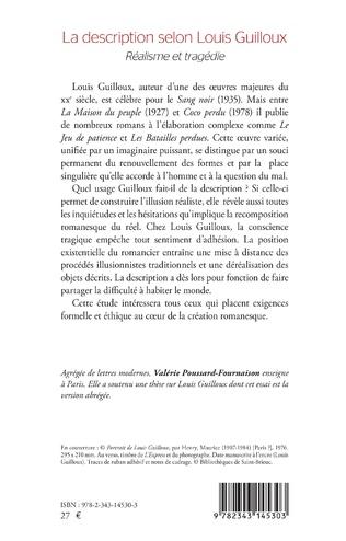 4eme La description selon Louis Guilloux