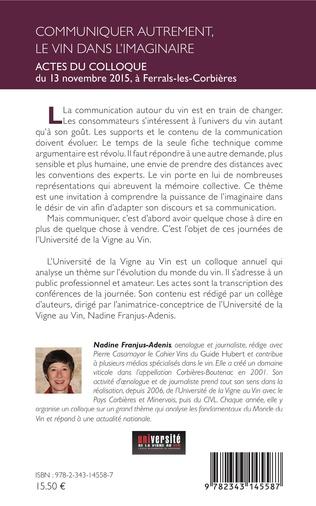 4eme Savoir parler du vin : évolution des commentaires