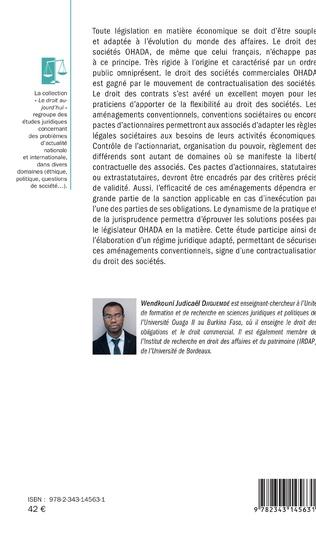 4eme L'aménagement conventionnel de la société commerciale en droit français et en droit OHADA