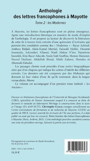 4eme Anthologie des lettres francophones à Mayotte