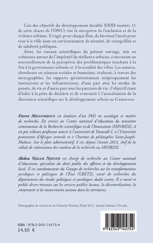 4eme L'émergence du Cameroun et les défis de la résilience urbaine