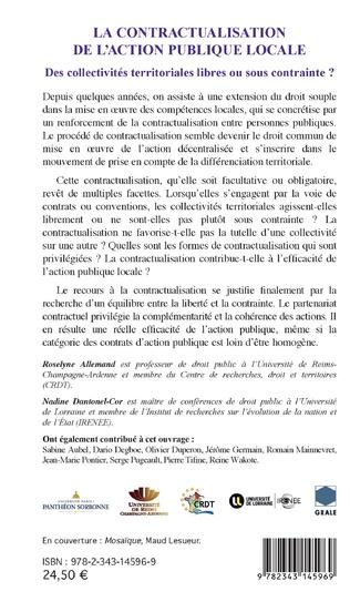 4eme La contractualisation de l'action publique locale