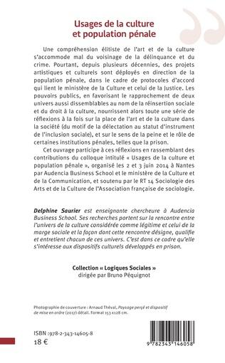 4eme Usages de la culture et population pénale