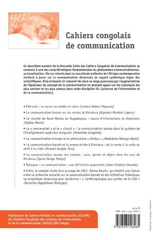 4eme Cahiers congolais de communication 2018 N° 2