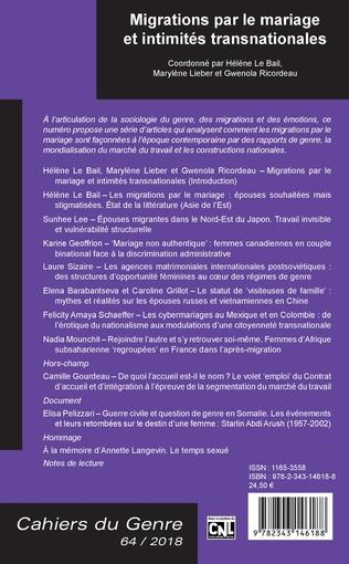4eme Migrations par le mariage et intimités transnationales