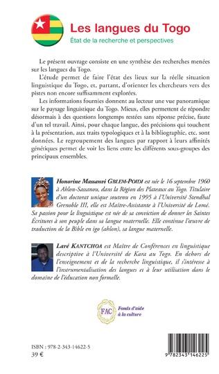 4eme Les langues du Togo. Etat de la recherche et perspectives