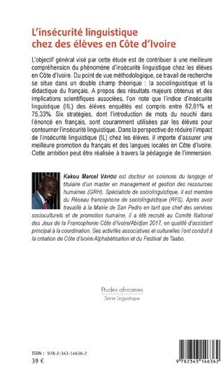 4eme L'insécurité linguistique chez des élèves en Côte d'Ivoire