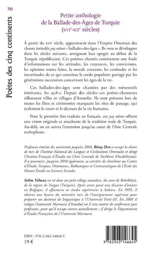 4eme PETITE ANTHOLOGIE DE LA BALADE DES AGES DE TURQUIE
