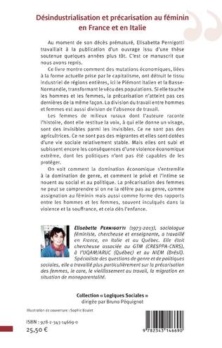 4eme Désindustrialisation et précarisation au féminin en France et en Italie