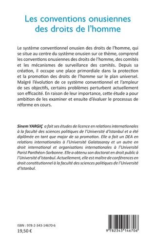 4eme Les conventions onusiennes des droits de l'homme