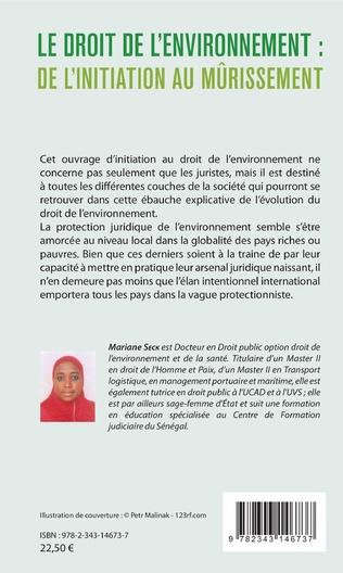 4eme Le droit de l'environnement : de l'initiation au mûrissement