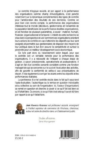 4eme Le contrôle trilogique revisité et son apport à la performance des organisations en République démocratique du Congo
