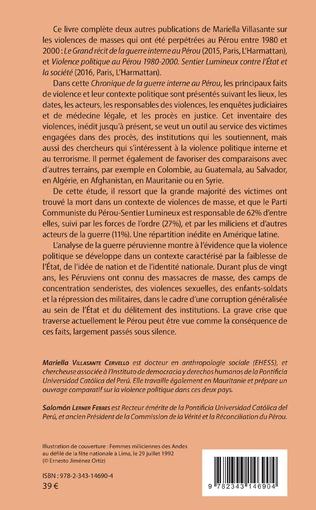 4eme Chronique de la guerre interne au Pérou - 1980-2000