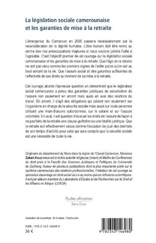 4eme La législation sociale camerounaise et les garanties de mise à la retraite