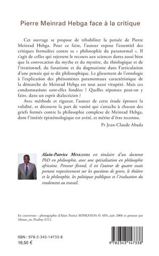 4eme Pierre Meinrad Hebga face à la critique