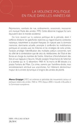 4eme La violence politique en Italie dans les années 68