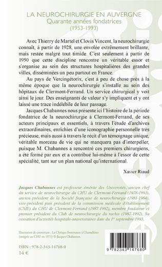 4eme La neurochirurgie en Auvergne