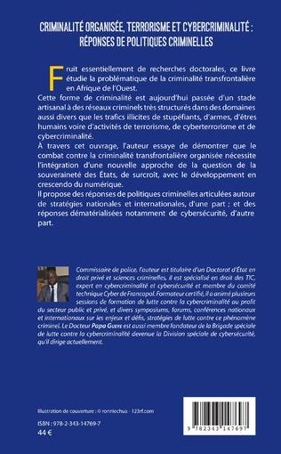 4eme Criminalité organisée, terrorisme et cybercriminalité : réponses de politiques criminelles