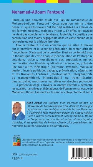 4eme Mohamed-Alioum Fantouré thématique et techniques narratives dans l'oeuvre romanesque d'un écrivain guinéen
