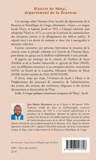 4eme Histoire de Nkayi, département de la Bouenza