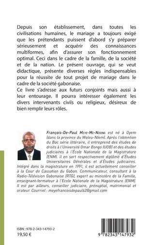 4eme Se préparer au mariage au Gabon