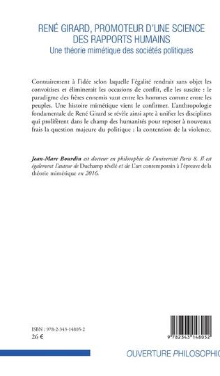 4eme René Girard, promoteur d'une science des rapports humains