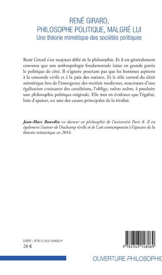 4eme René Girard, philosophe politique, malgré lui