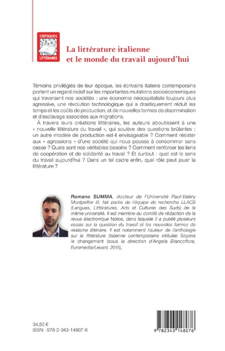4eme La littérature italienne et le monde du travail aujourd'hui