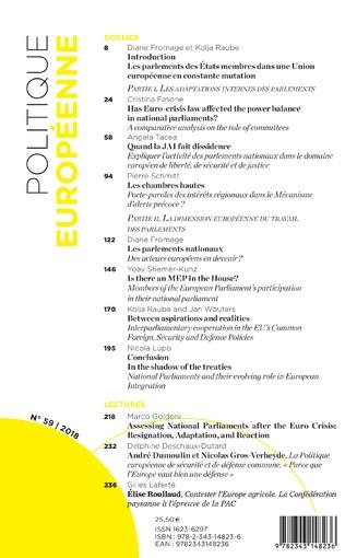 4eme Les Parlement des état membres face au(x) défi(s) européen(s)