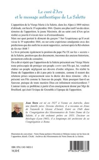 4eme Le curé d'Ars et le message authentique de La Salette