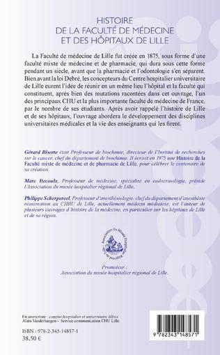 4eme Histoire de la faculté de médecine et des hôpitaux de Lille