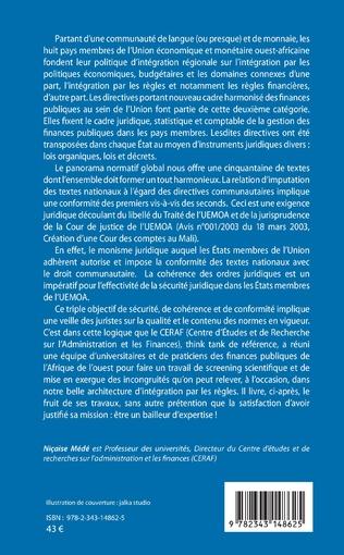 4eme Constitutions et documents financiers Vol 2 Espace UMOA/UEMOA