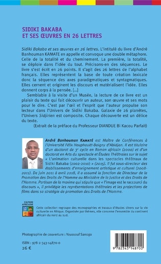 4eme Sidiki Bakaba et ses oeuvres en 26 lettres