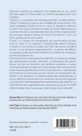 4eme La fiscalité de développement en Afrique de l'Ouest francophone
