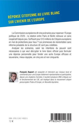 4eme Réponse citoyenne au livre blanc sur l'avenir de l'Europe