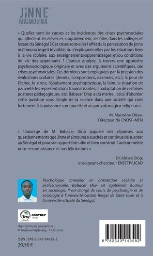 4eme Jinne Maimouna. Crises psychosociales et hystériformes dans l'école sénégalaise