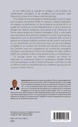 4eme Mai 1968 à Dakar ou la révolte universitaire et la démocratie