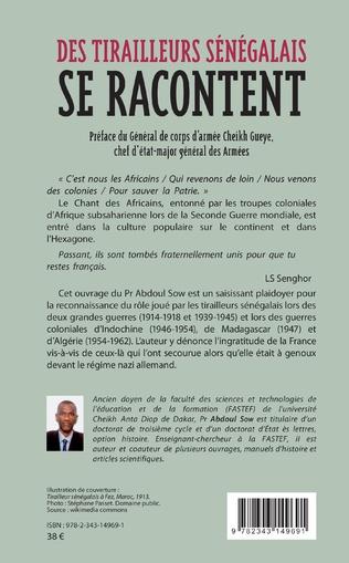 4eme Des tirailleurs sénégalais se racontent
