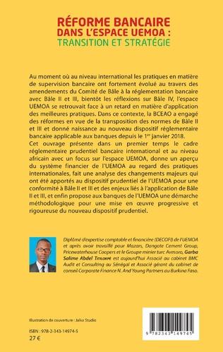 4eme Réforme bancaire dans l'espace UEMOA : transition et stratégie
