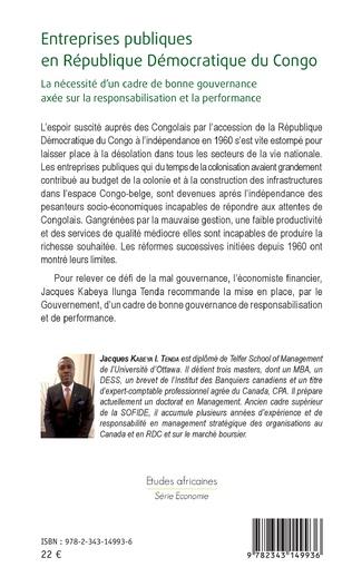 4eme Entreprises publiques en République Démocratique du Congo